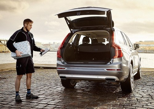 Volvo In-car Delivery, world's first commercially available in-car delivery service by use of digital key ...