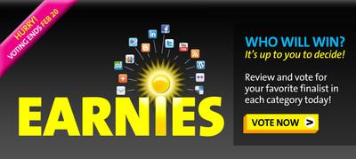 PR Newswire Announces 2012 Earnies Finalists & Opens Up Community Voting. Voting Open Until February 20th. www.agilitycommunity.com.  (PRNewsFoto/PR Newswire Association LLC)