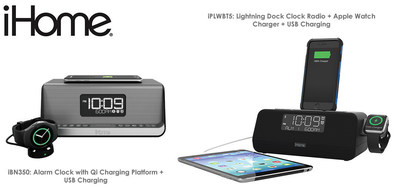 iHome's new iPLWBT5 and iBN350 deliver hassle-free charging for Apple Watch and Qi Compatible Android Devices