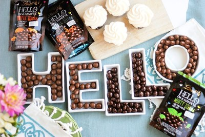 New Lindt HELLO Bites offer a handful of flavor with three mouthwatering flavors covered in premium milk or dark chocolate: HELLO Pretzel Bites, HELLO Toffee Bites and HELLO Minty Bites.