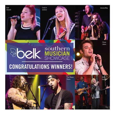 Belk today announced the winners of the company's second annual Southern Musician Showcase. The seven winners were selected from more than 4,000 submissions.