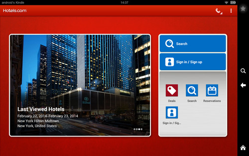 The Kindle Fire Hotels.com app launch is the latest in a series of innovations from the Hotels.com mobile team.  ...