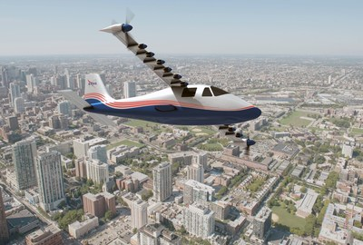 Featuring 14 electric motors, NASA's X-57 will demonstrate one way electric propulsion can be integrated with aircraft structures to achieve more efficient, quieter, and more environmentally friendly aviation compared to conventional aircraft. Credit: NASA Langley/Advanced Concepts Lab, AMA, Inc.
