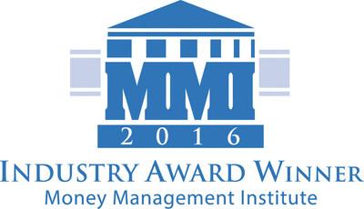Money Management Institute (MMI) 2016 Industry Award Winner