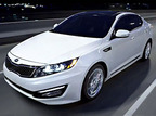 The Kia Optima led the brand's sales for the past 14 months.  (PRNewsFoto/CarBuyersExpress)