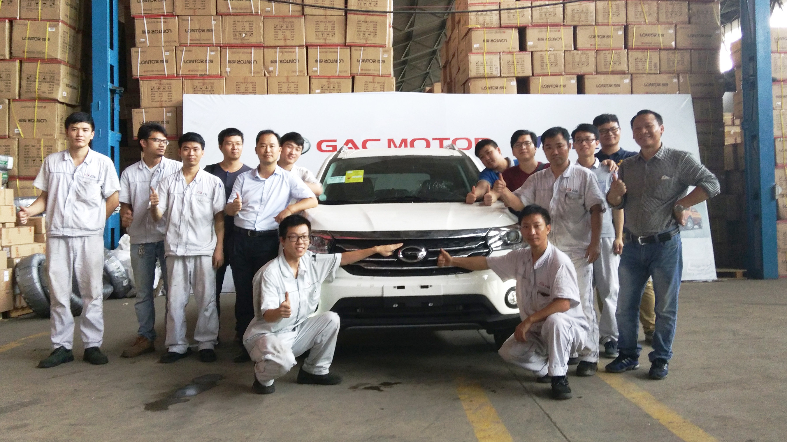 GAC Motor finishes parts assembly and testing of its first eight GS4 vehicles for its GAC Motor SKD (semi knocked-down) project through CIG Motors, distributor of GAC Motor in Nigeria