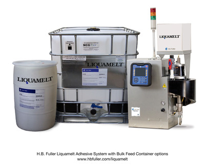 H.B. Fuller Liquamelt Adhesive System with Bulk Feed Container options. www.hbfuller.com/liquamelt.  (PRNewsFoto/H.B. Fuller Company)