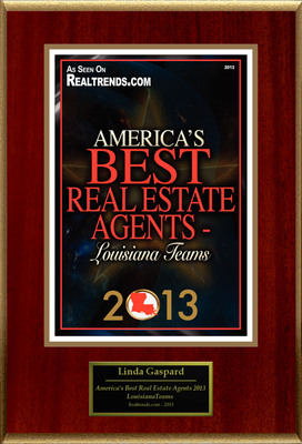 The Gaspard Team Selected For ''America's Best Real Estate Agents 2013 - LouisianaTeams''
