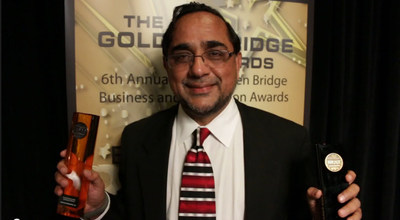 Daintree Networks' Mandeep Khera and Golden Bridge Awards (PRNewsFoto/Daintree Networks, Inc.)