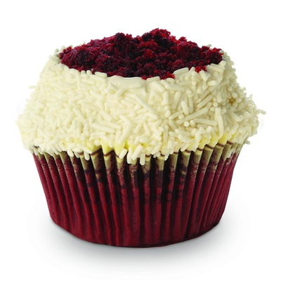 Crumbs Bake Shop Red Velvet cupcake now available at BJ's Wholesale Club's