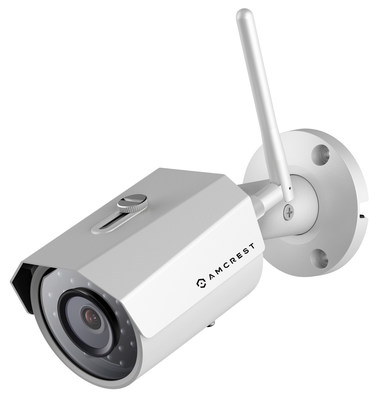 Amcrest ProHD Outdoor 3-Megapixel (2304 x 1296P) WiFi Wireless IP Security Bullet Camera - IP67 Weatherproof, 3MP (1080P/1296P) IP3M-943S (Silver)