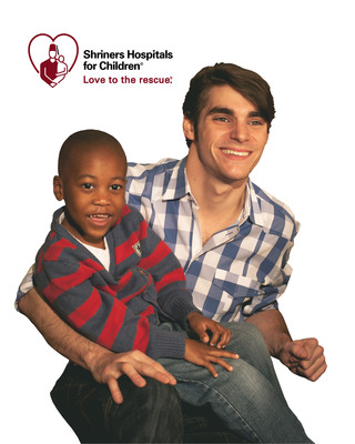 Shriners Hospitals for Children(R) is pleased to announce former patient and award-winning actor RJ Mitte as a national Love to the rescue Ambassador(TM) for their 2014 Love to the rescue(R) campaign.  (PRNewsFoto/Shriners Hospitals for Children)