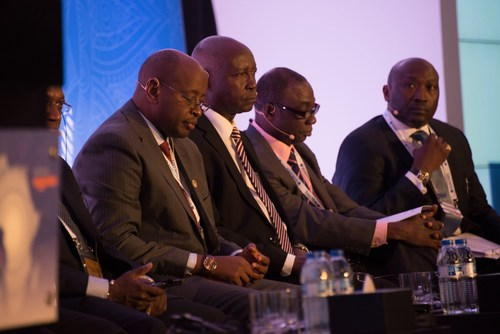 A panel discussion takes place at the Africa Energy Forum (PRNewsFoto/EnergyNet)
