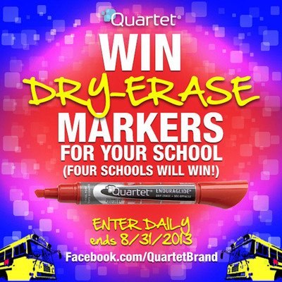 Win 100 packs of dry-erase markers for back-to-school season! Enter to win in The Always Bold Dry-Erase Marker Sweepstakes.  Four schools will win between now and Aug. 31.  (PRNewsFoto/ACCO Brands Corporation)