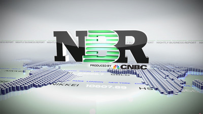 """Nightly Business Report Produced by CNBC"" logo.  (PRNewsFoto/CNBC)"