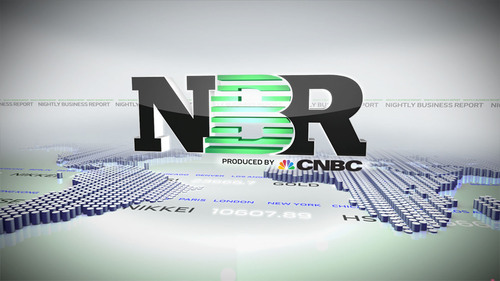 """Nightly Business Report Produced by CNBC"" logo.  (PRNewsFoto/CNBC)"