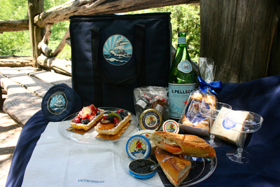 """Ultimate Central Park Picnic: The Quin Hotel's """"Petrossian Picnic in the Park"""" Experience.  www.thequinhotel.com (PRNewsFoto/The Quin hotel) (PRNewsFoto/The Quin hotel)"""