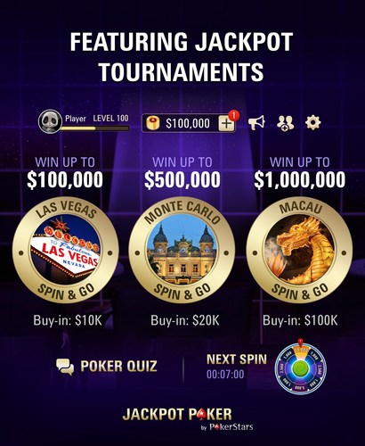 Jackpot Poker tournaments (PRNewsFoto/PokerStars)
