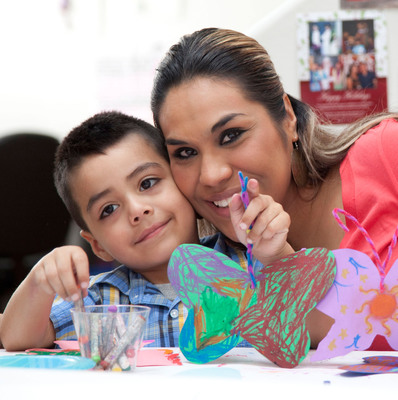 AWBW's Family Trees project is a unique workshop designed to enable battered women and their children to rebuild a sense of connection with each other by telling their stories through art.