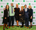 (L to R) National 4-H Council Board of Trustees Chair Alison Lewis; Facebook Executive Andrew Bosworth; Celebrity Chef Anne Burrell; CNN Headline News Host Nancy Grace; Arizona 4-H'er Andres Parra; and National 4-H Council President and CEO Jennifer Sirangelo.  (PRNewsFoto/National 4-H Council)