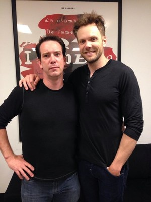 Brooks McBeth and Joel McHale on comedy tour. (PRNewsFoto/Experience Media Studios)