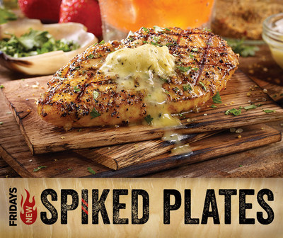 TGI Fridays' chefs are taking over, raiding the bar for inspiration and combining what Fridays does best-food and spirits. Pictured is the new Bourbon Barrel Chicken, all-natural chicken fire-grilled and served over bourbon-infused wood planks.