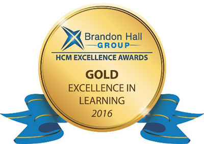 Brandon Hall Group, Gold Excellence in Learning 2016