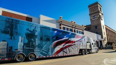 The 9/11 Never Forget Mobile Exhibit arrived on May 5th at Battery Park, Hard Rock Hotel & Casino Sioux City. The free exhibit is open to the public for a full week with thousands expected to attend from the Midwest.