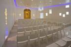 Wedding Chapel at Eldorado Hotel & Spa in Santa Fe, NM named La Capilla de Oro (Golden Shrine) Now featuring live video streaming services of wedding ceremonies. Visit www.eldoradohotel.com for more information. Photo by Jeff Caven