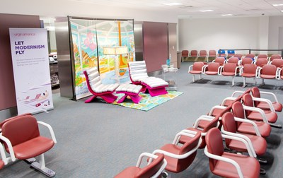 Virgin America Also Kicks off Palm Springs Modernism Week with a Mid-Century Modern Exhibit at Its Palm Springs Airport Gate