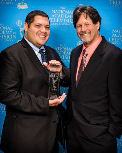 National News & Documentary Emmy(r) Winners - WFAA-TV Eric Valadez (L), and  Art MacLaren (R).  ...