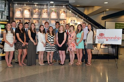 18 high school seniors across New England were inducted into the Hood Sportsmanship Exhibit inside The Sports Museum of the TD Garden in Boston.