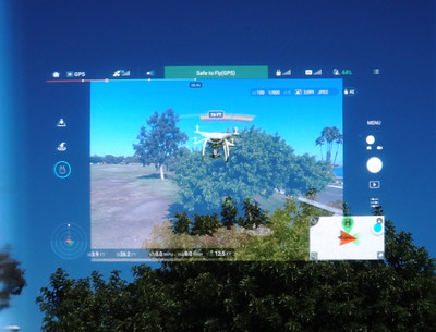 DJI GO app playing in BT-300