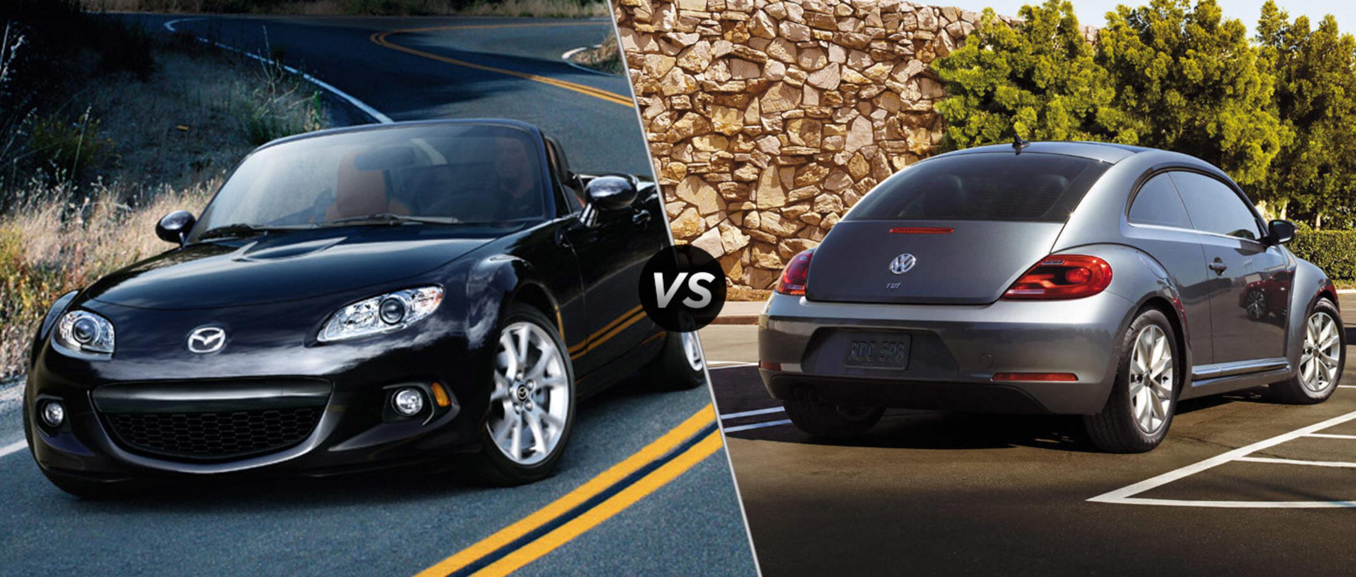 Dealership comparison finds 2015 Mazda Miata outshines 2015 Volkswagen Beetle