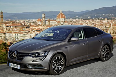 """Renault TALISMAN has been awarded """"Most Beautiful Car of the Year"""" at the 2016 International Automobile Festival and its designer Laurens van den Acker was awarded the Design Grand Prix (TALISMAN shown here on a test drive in Tuscany). (photo credit: Renault) (PRNewsFoto/Groupe Renault) (PRNewsFoto/Groupe Renault)"""