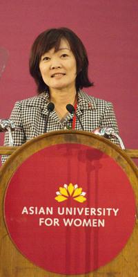 Mrs. Akie Abe, AUW Patron.  (PRNewsFoto/Asian University for Women)