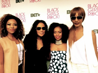 BLACK GIRLS ROCK! Africa at BET EXPERIENCE AFRICA - L-R: Bonang Mabetha, Beverly Bond, Nomzamo Mbatha, and Millen Magese.