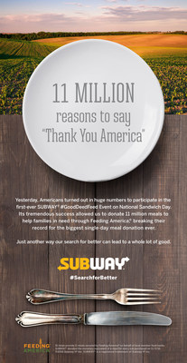 "11 Million Reasons to Say ""Thank You America"""