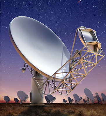 General Dynamics to Deliver Antennas for Largest, Most Powerful Radio Telescope in Southern Hemisphere. General Dynamics to deliver 64 radio antennas specially designed for MeerKAT telescope array in Northern Cape province of South Africa. The specially configured antenna's dish-shaped 13.5-meter main reflector provides superior optical performance and reception sensitivity and is ideally suited for radio-telescope applications. It can bypass radio interference from satellites and terrestrial transmitters giving astronomers an ultra-deep look into the earliest galaxies and a means to investigate new areas of science.  (PRNewsFoto/General Dynamics C4 Systems)