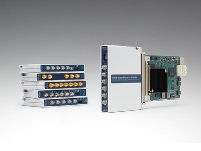 Six new adapter modules add I/O including digitizer, signal generation and IF and RF transceiver capabilities.  (PRNewsFoto/National Instruments)