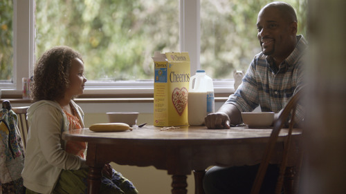 For the first time in its 73-year history, Cheerios will appear in an ad during the big game, celebrating those special moments that can occur at the breakfast table with family. (PRNewsFoto/Cheerios) (PRNewsFoto/CHEERIOS)