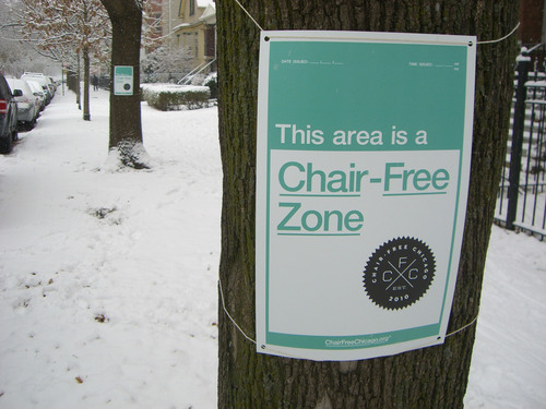 Chair Free Chicago Launches to Combat 'Dibs'