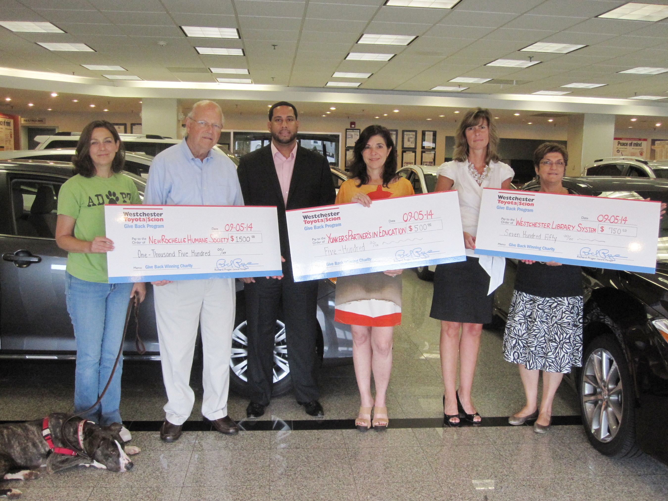 cba650c73f Westchester Toyota Donated to 3 Deserving Local Non-profits at its ...