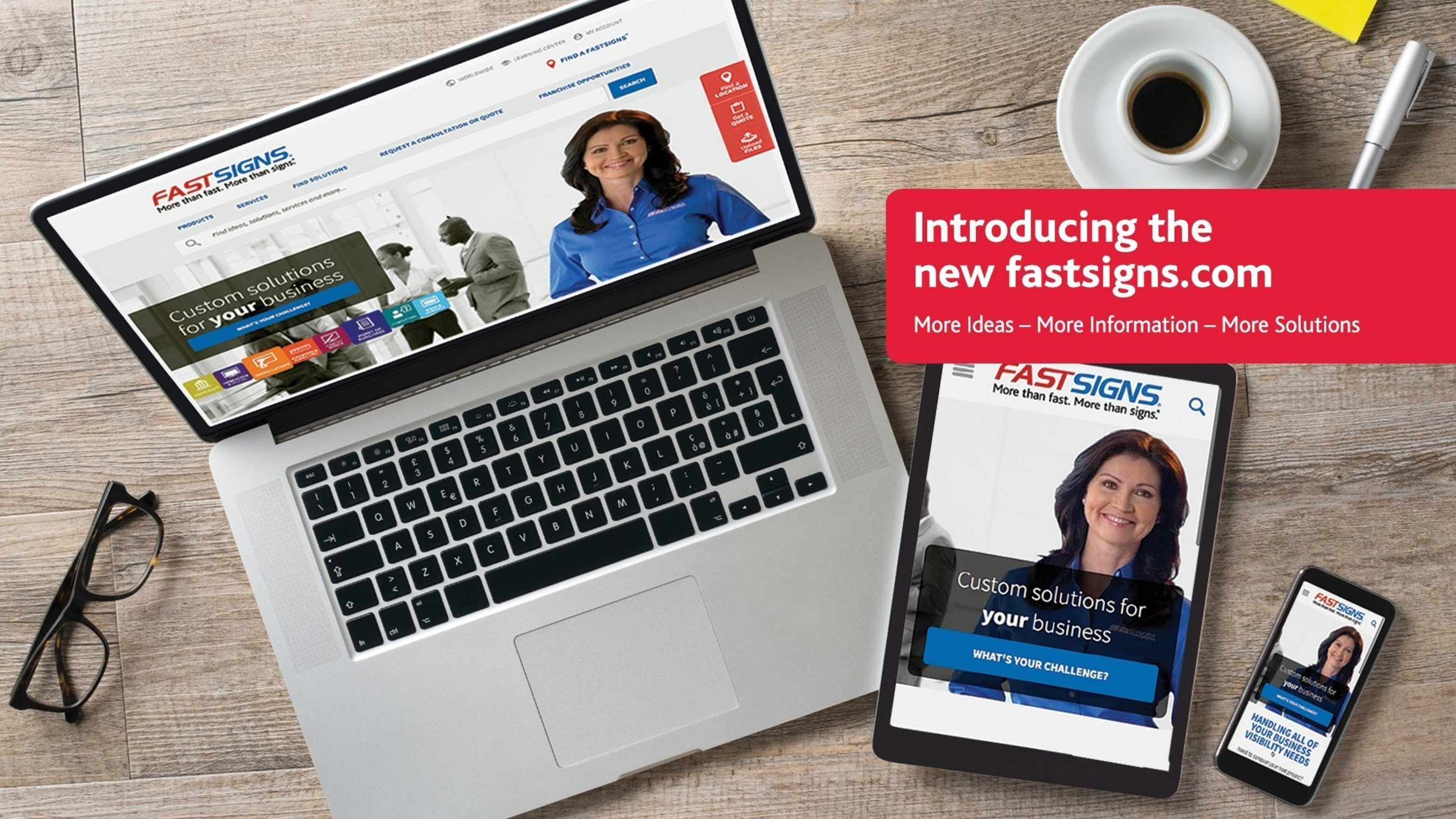 FASTSIGNS International, Inc., has launched the new fastsigns.com responsive design website, complete with new consultative and engaging features.
