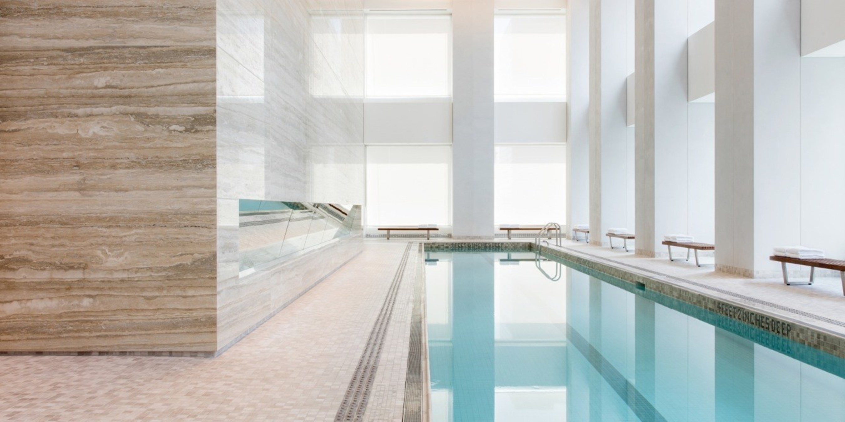 Residents' swimming pool at 432 Park Avenue (DBOX for CIM Group/Macklowe Properties)