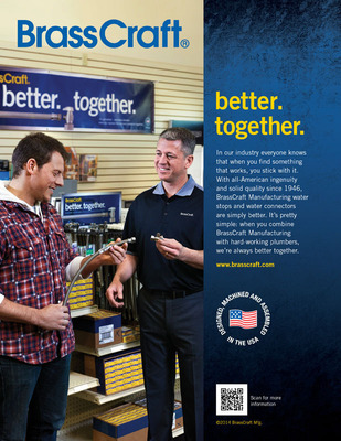 BrassCraft Manufacturing Introduces New B2B Ad Campaign That Puts the Spotlight on the Importance of Great Relationships.  (PRNewsFoto/BrassCraft Manufacturing)