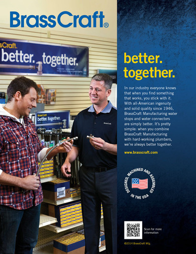 BrassCraft Manufacturing Introduces New B2B Ad Campaign That Puts the Spotlight on the Importance of Great Relationships. (PRNewsFoto/BrassCraft Manufacturing) (PRNewsFoto/BRASSCRAFT MANUFACTURING)