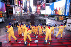 Times Square scrubbed with Mr. Clean Liquid Muscle after New Year's Eve.(Getty) PRNewsFoto/Procter & Gamble)