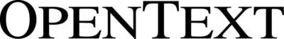 OpenText logo.