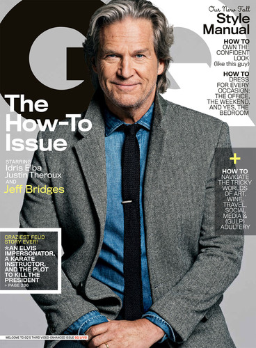 Actor Jeff Bridges appears on the cover of GQ's October issue.  (PRNewsFoto/GQ)